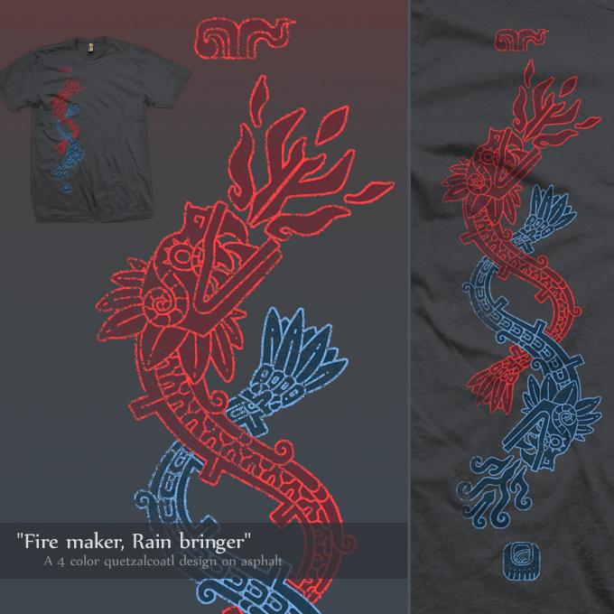 Fire maker, rain bringer - tee by InfinityWave
