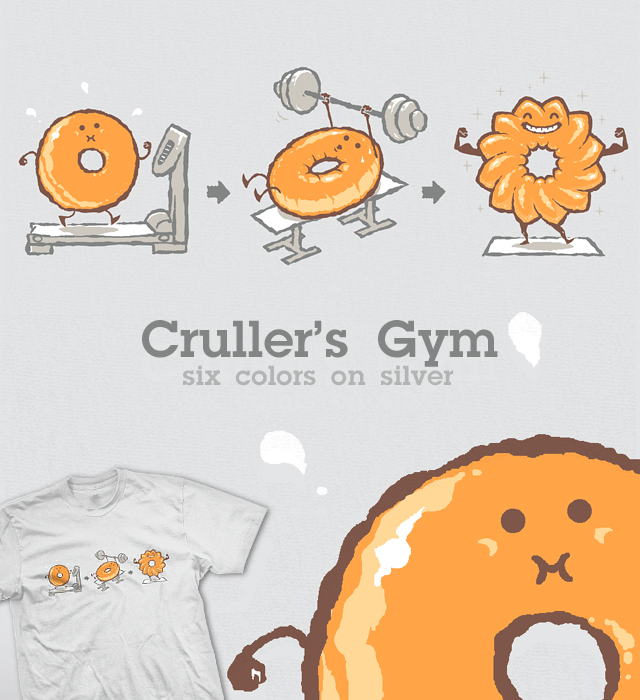 Cruller's Gym v2 - tee by InfinityWave