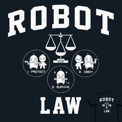 Robot Law School - tee by InfinityWave