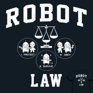 Robot Law School - tee