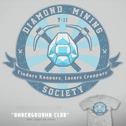 Underground Club - Minecraft tee by InfinityWave