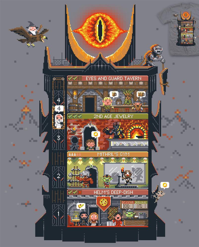Tiny Dark-Tower tee by InfinityWave