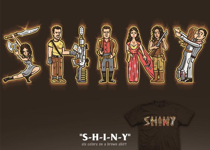 s-h-i-n-y tee by InfinityWave