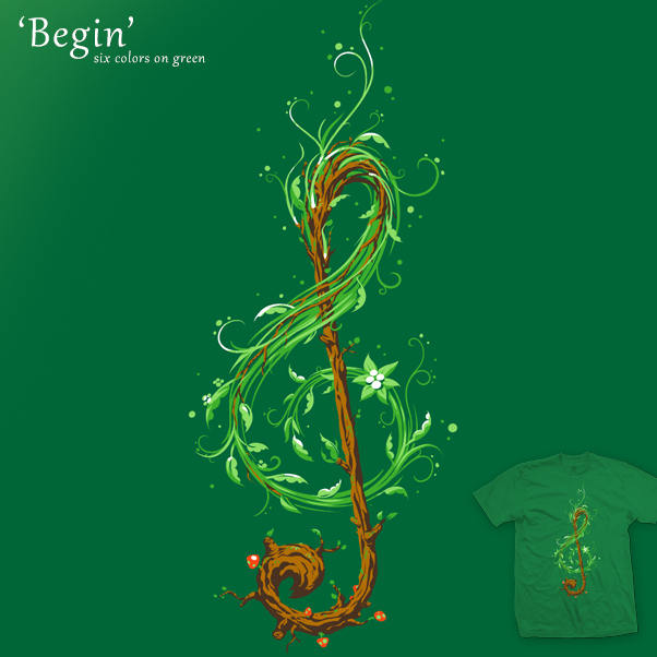 Begin - tee by InfinityWave