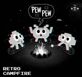 Retro Campfire - tee