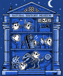 Fright at the Museum - tee
