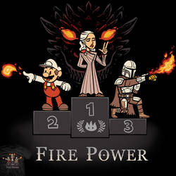 Fire Power - tee and apron design