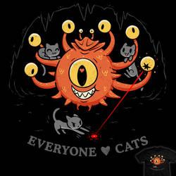 Everyone Loves Cats - tee