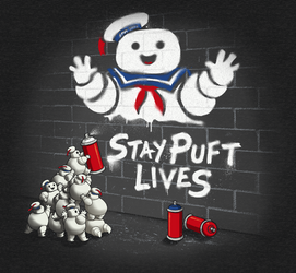 Stay Puft Lives - tee