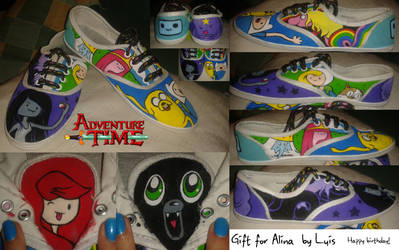 Adventure time Shoes by AlinaValo