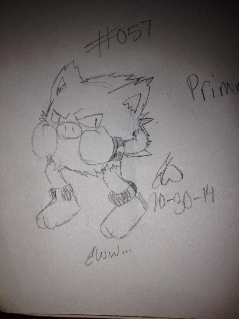 .:Pokemon Challenge:. #057 Primeape by AmyKittenFox