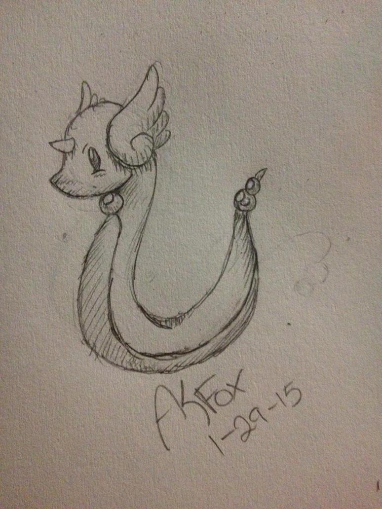 Pokemon Challenge #148 Dragonair by AmyKittenFox
