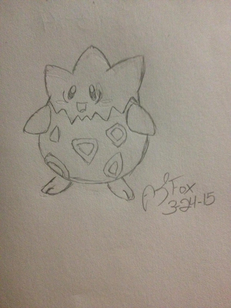 Pokemon Challenge 2 #175 Togepi by AmyKittenFox