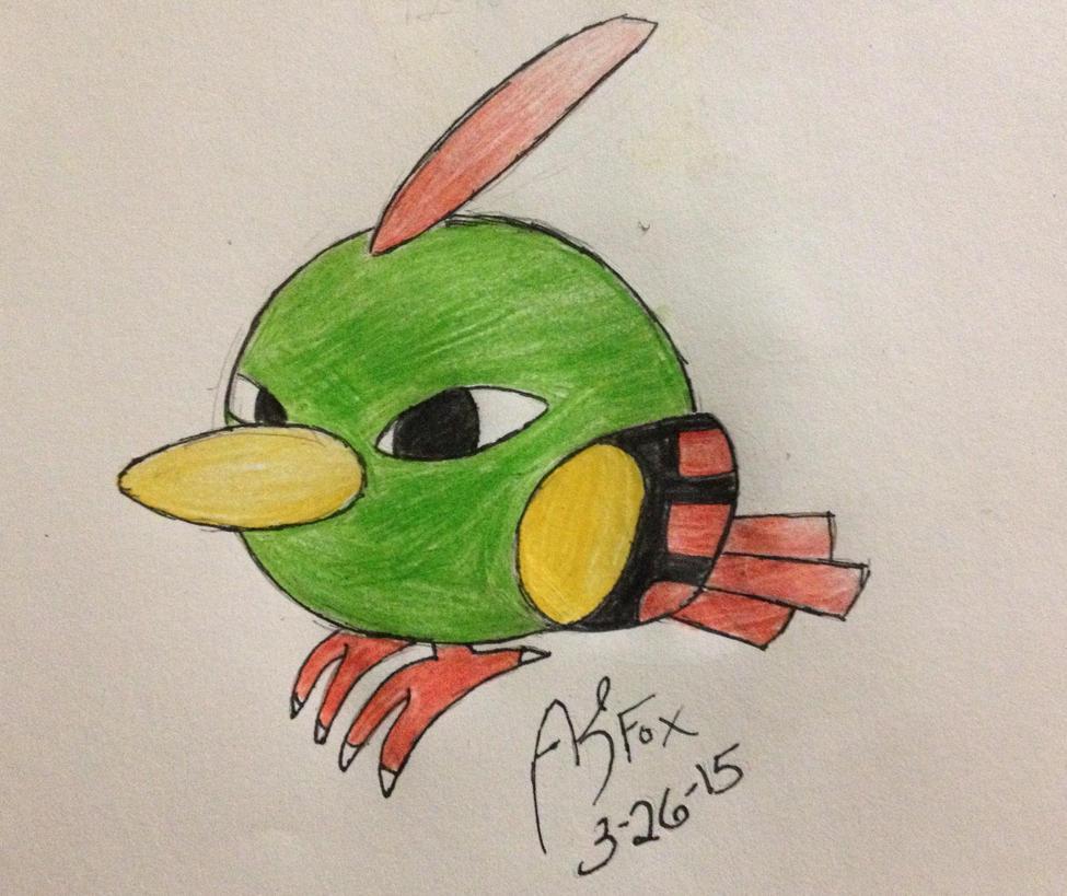 Pokemon Challenge 2 #177 Natu by AmyKittenFox