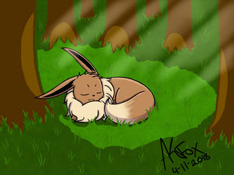 Resting in the Forest by AmyKittenFox