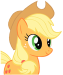 Applejack Happy Vector