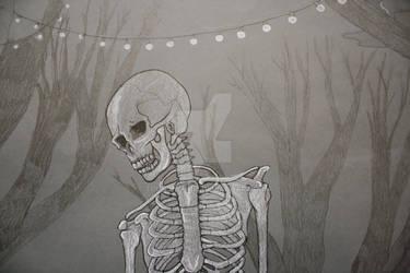 The skeleton waiter...close