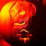 Skeleton Pumpkin in the light