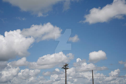 Powerlines and clouds