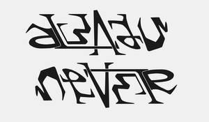 Ambigram:  always - never