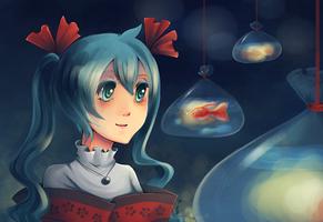 Miku: Fish festival by psyAlera