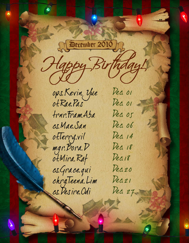 december birthday celebrants by happy-dementor on DeviantArt