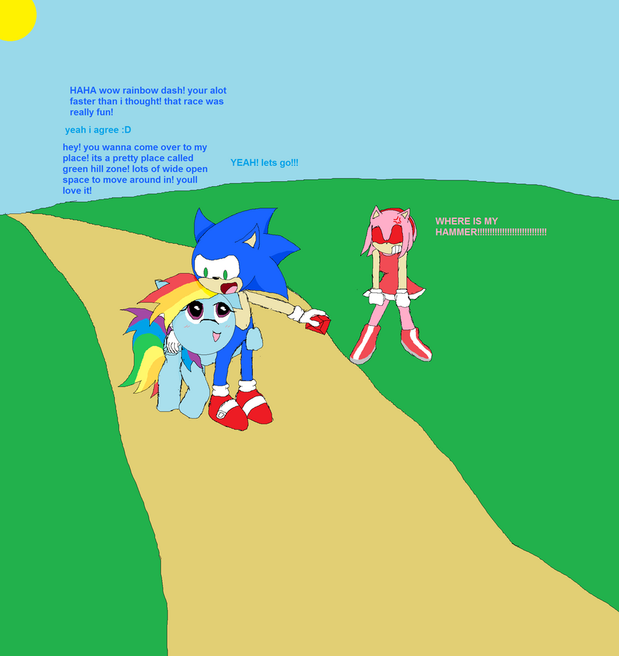 Sonic and rainbow dash by tj0001 on deviantart