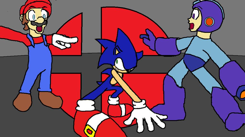 Sonic vs mario vs megaman
