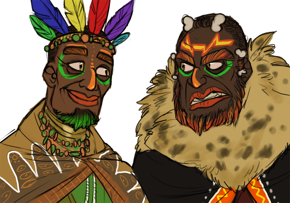 CB - human!Aku Uka brothers by Shaiger