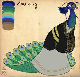 KFP - OC - Zhurong Reference Sheet by Shaiger