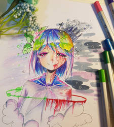 Earth chan _ I still love you by CookieeCat