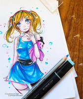 The powerpuff girl_ Bubbles by CookieeCat