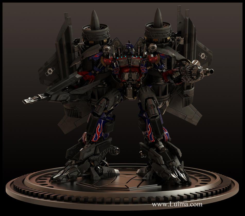 Optimus Jetfire combination by luima23