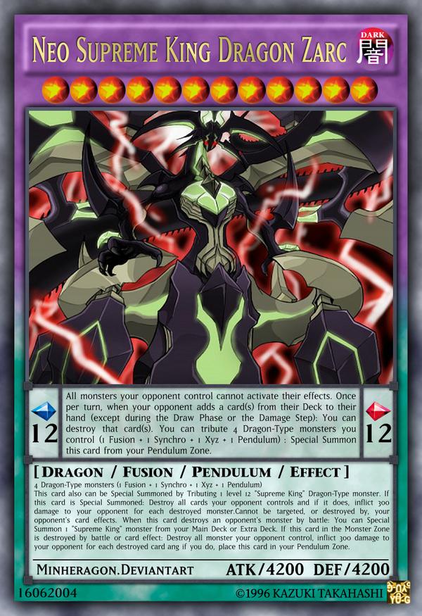 Neo Supreme King Dragon Zarc By Minheragon On Deviantart