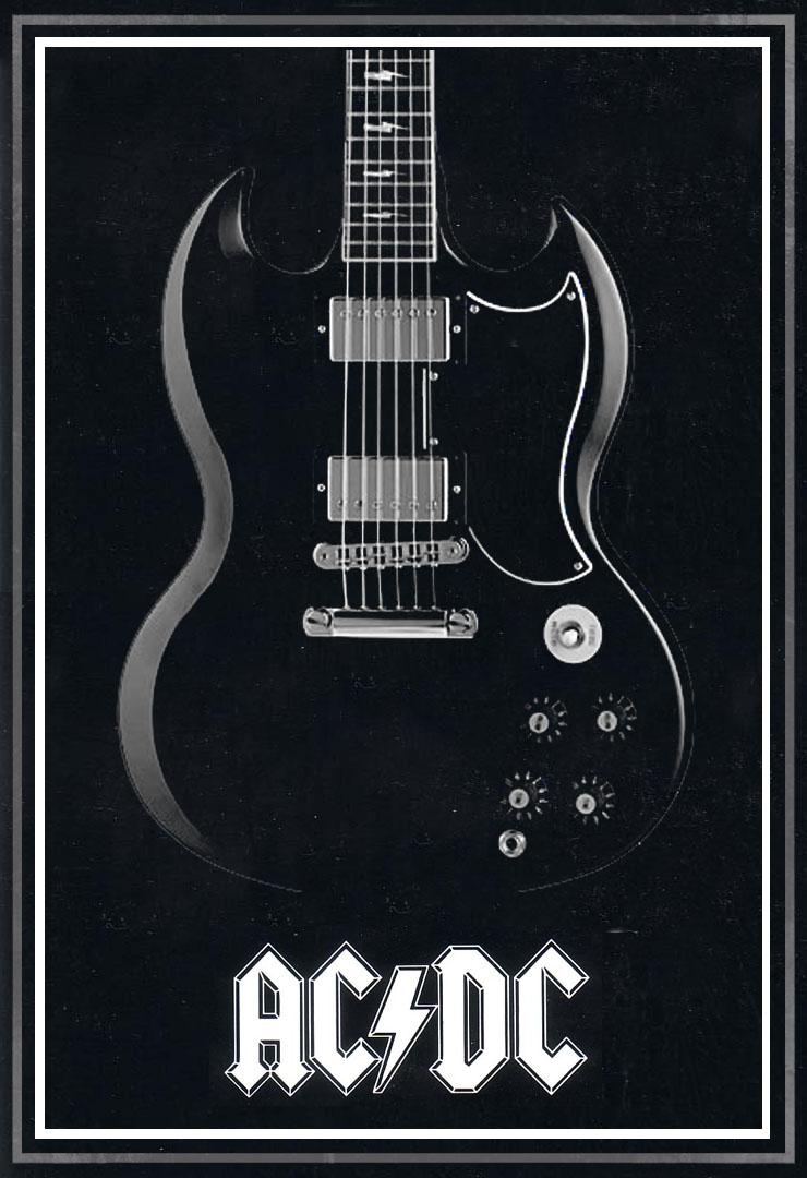 Ac Dc Art : Ac dc back in black poster by mitchbaker on deviantart