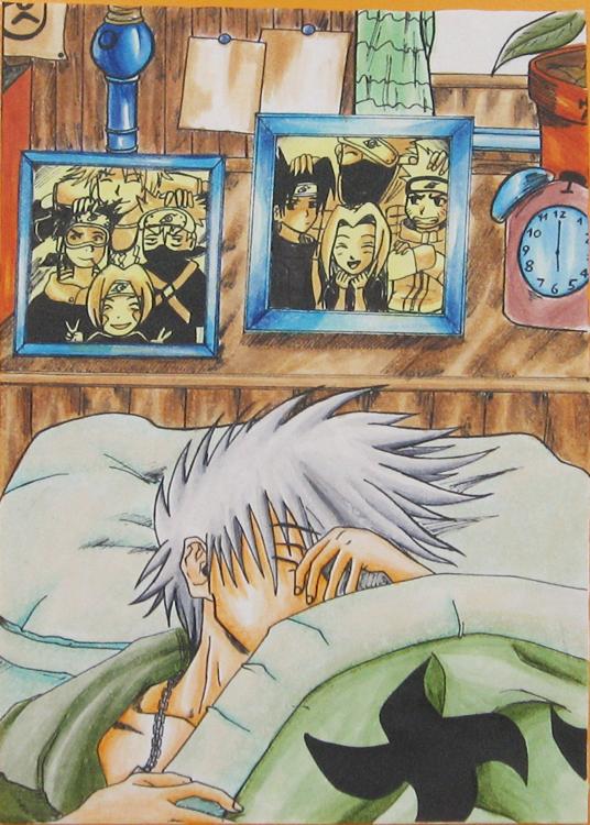 Naruto Kakashi sleep color by Miao86