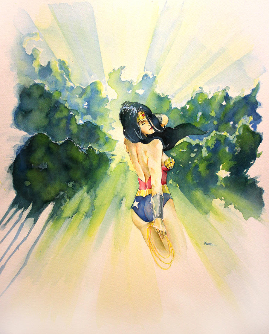 Wonder Woman, Through the trees... by MikeKretz