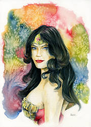 Wonder Woman Portrait by MikeKretz
