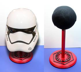 Star Wars First Order Replica Helmet PropStand by MikeKretz
