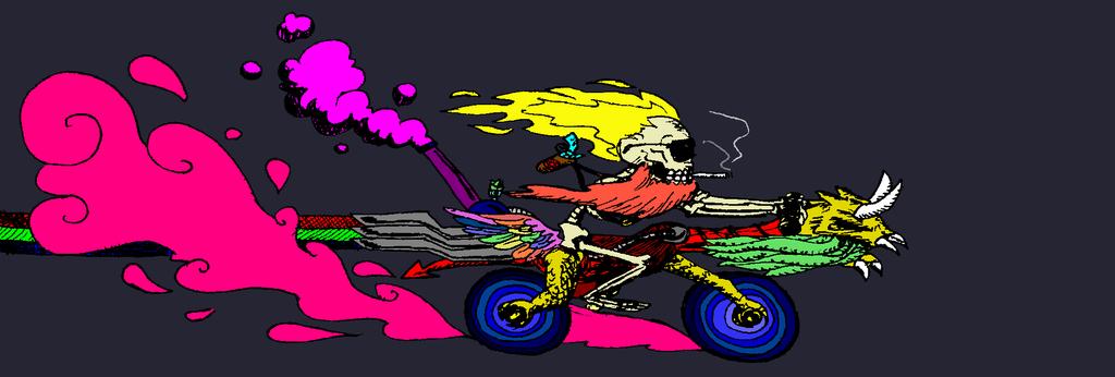Dead stoner rides again by TehStupidBunny