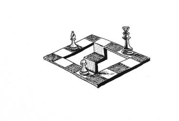 Impossible chessboard
