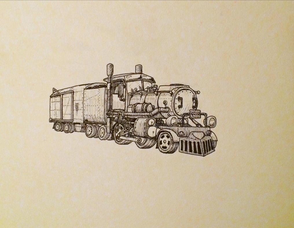 Steam truck by TehStupidBunny