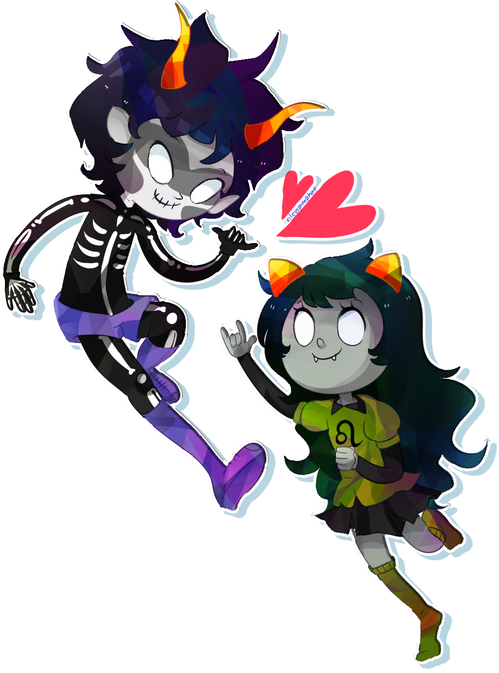 catty dames and juggalo boyfriends by kurloz-makara