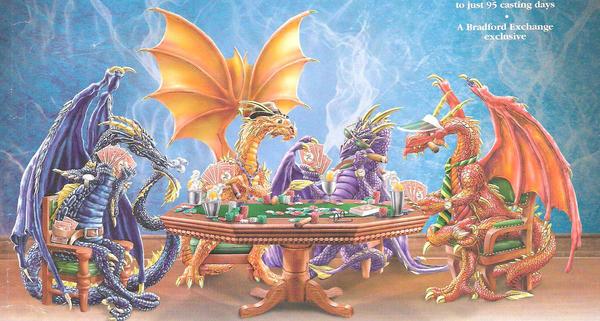 Poker Dragons by Dragon-Warrioress