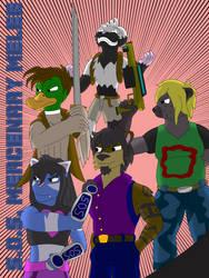 S.O.S. Mercenary Melee (Art Trade) by PlatinumArtist