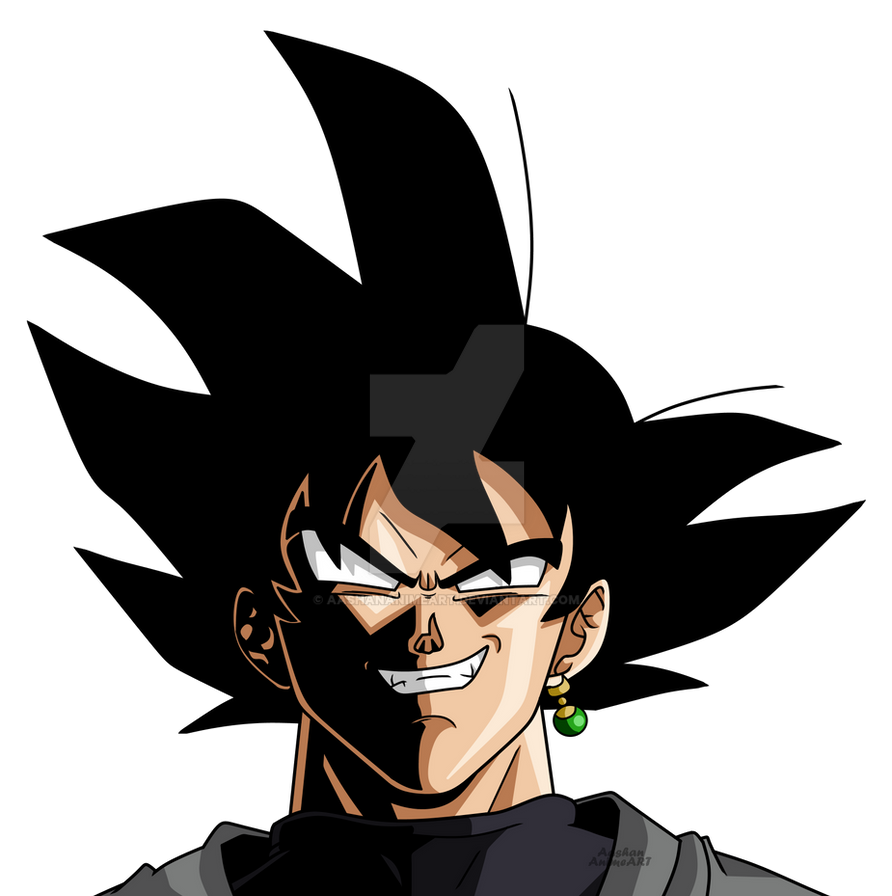 Goku Black Face With Black Shades By AashanAnimeArt On