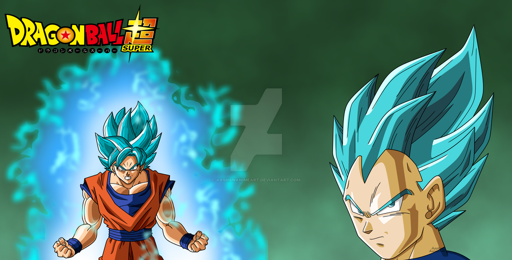 Goku And Vegeta Super Saiyan Blue Wallpaper By Aashananimeart On