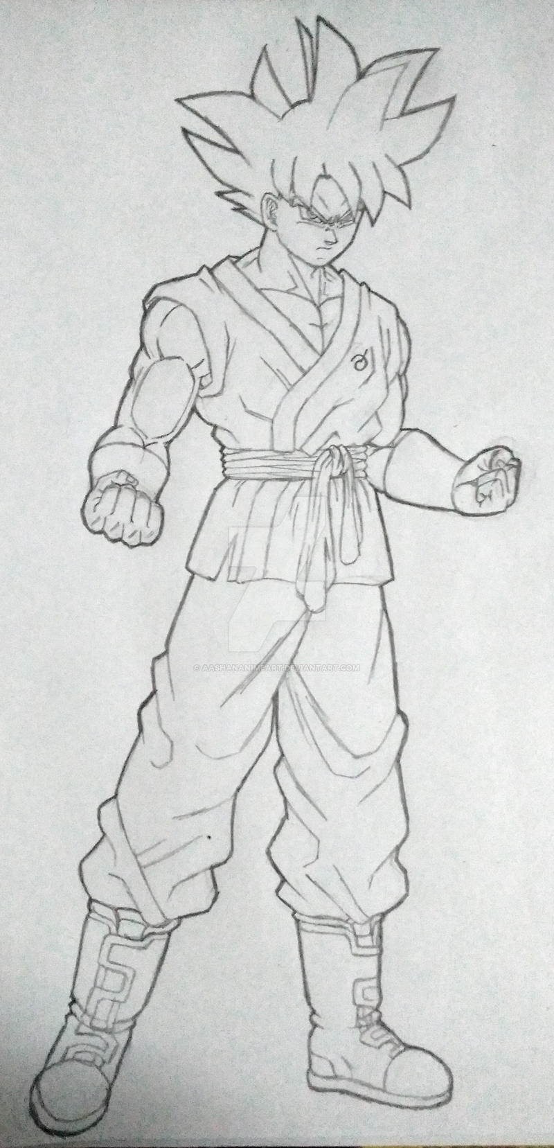 Goku ultra instinct sketch by aashananimeart on deviantart - Goku ultra instinct sketch ...