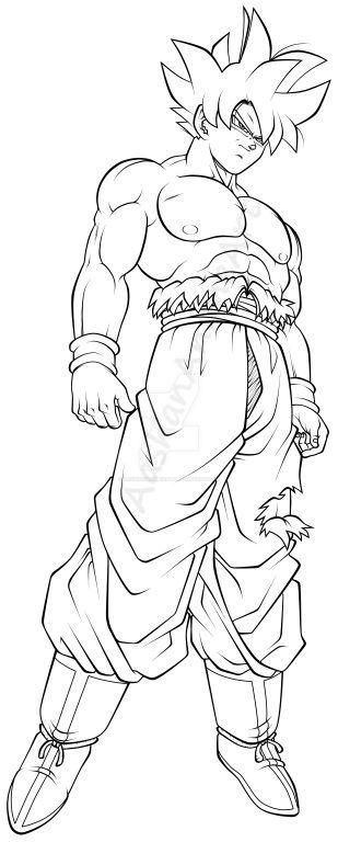 goku ultra instinct coloring pages Goku Ultra Instinct Line Art by AashanAnimeArt on DeviantArt goku ultra instinct coloring pages