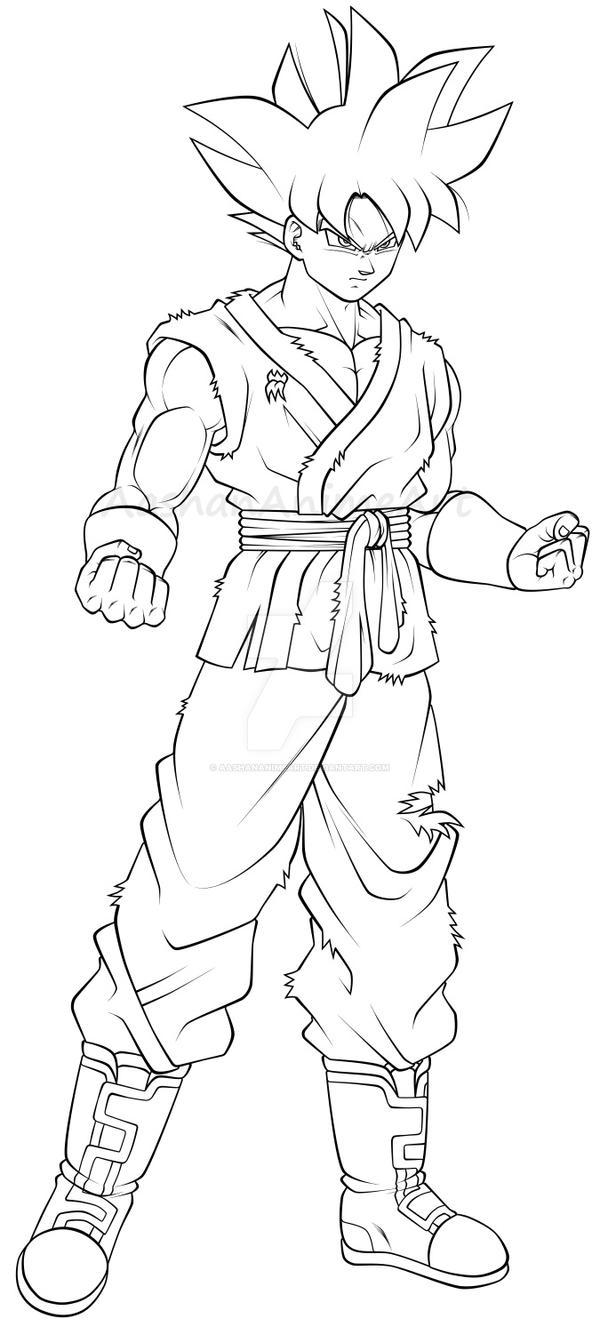 Goku Ultra Instinct in Whis Gi